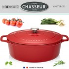 Cocotte ovale 5.6 litres rouge