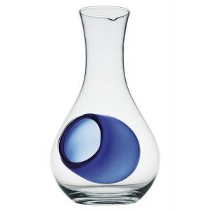Bouteille de Sake en verre avec trou Bleu