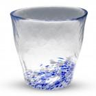 Coupe à saké en verre bleu Kurage