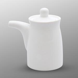 Fusion Blanc Sauce Pot Avec Couvercle En Silicone