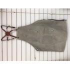 Tablier canevas gris et cuir